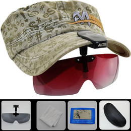 visor for sunglasses Coupons - 5 Colors New Arrival Polarized Hat Visors Sport Clips Cap Clip-on Sunglasses For Fishing Biking Hiking Golf Ski with box cloth test card