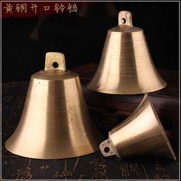 Wholesale Feng Shui Tree - Brass bells Christmas tree ornaments horns wind bells strokes feng shui water ornaments copper bells security home security door