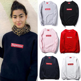 Wholesale Loose Pullovers Sweater - Autumn Winter Ladies Round Neck Loose Sweater Red Flag Embroidery Casual Hip Hop Hoodie Men Women Sweatshirt Tops Size S-2XL