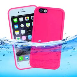Wholesale Rubber Case Iphone Gold - Waterproof Case for iPhone X 8 7 6 6s Plus for Samsung S7 Gel Rubber Full Boday Cover Shockproof Dustproof Underwater Diving Case