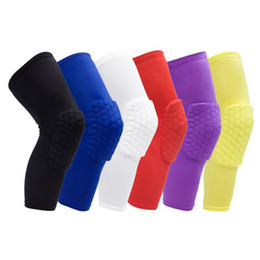 Wholesale Basketball Protective Pads - Breathable Basketball Shooting Sport Safety Kneepad Honeycomb Pad Bumper Brace Kneelet Protective Knee pads rodilleras Free Shipping
