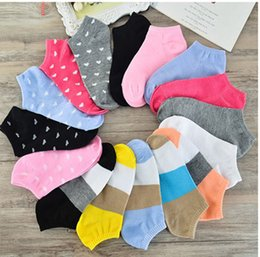 Wholesale Womens Cotton Crew Socks - 20pairs lot Candy Colors Polka Dot Cotton Womens Fashion Low Cut Ankle Crew Slipper Socks
