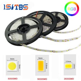 Wholesale Saa Led Waterproof - 5M 5050 2835 5630 Led Strips Light Warm White Red Green Blue RGB Flexible 5M Roll 300 Leds 12V outdoor Ribbon Waterproof