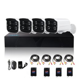 Wholesale Home Security Systems Kits - LS-AKA2 4CH AHD DVR kits 1080P AHD CCTV Camera System 4 channel Home Security Day Night Vision CCTV Dvr Kit ANN