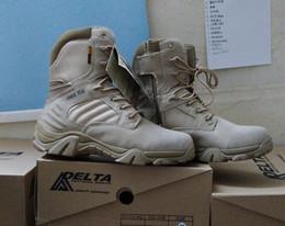 Invierno / otoño Hombres Botas de cuero de marca de alta calidad Fuerza especial Tactical Desert Combat Boats Zapatos al aire libre Botas de nieve desde fabricantes