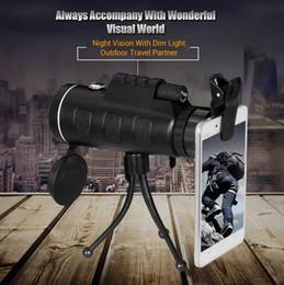Wholesale Mini Video Tripod - 20pcs PANDA 40x60 Mini Tripod Telescope Night Vision Monocular Telescopio Phone Camera Video Telescope With Compass Free Shipping
