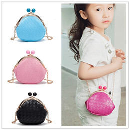 Wholesale Wholesale Baby Bags Designer - New Toddler Girl Purse Girls Designer Purses Fashion Mini Bag Girl Baby Messenger Bags Kids Stylish Bags Candy Color baby presents CM074