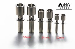 Wholesale Hand Air Tools - Flux Titanium Nail Air Holes 10mm 14mm 18mm Male Joint GR2 Titanium Domeless Nail Hand Tools Dab Rig Ti Nails DHL 101