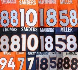 Wholesale Peyton Manning Jersey Xxl - 100% stitched 12 Paxton Lynch Jersey Mens 88 Demaryius Thomas 18 Peyton Manning 58 Von Miller 10 Emmanuel Sanders 13 Trevor Siemian jersey