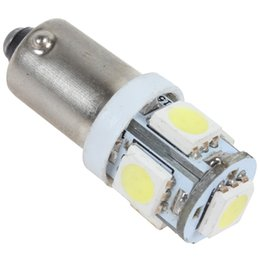 Wholesale Led Car Bulb Ba9s - BA9S 12V 1W 5 SMD 5050 LED White Light Car Reading Light Interior Bulb Door Light CLT_026