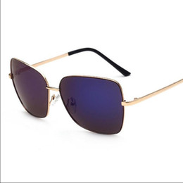 Wholesale Large Frame Fashion Glasses - Sunglasses for women sun glasses Casual mirror UV400 PC plastic Retro Fashion beach Accessories new Unisex Large frame 6 color 1 piece