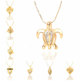 Wholesale Wholesale Drop Shipping Jewelry - New Hot Wonderful Women Love Natural Pearl Oyster Drop Gold Plated Pendant Necklace Jewelry Free Shipping