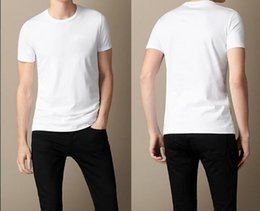 Wholesale British Clothing Brands - British Embroidery Knight New Fashion solid T shirt Men brand clothing Male T-shirt top quality 100% Cotton Soft Tshirt for Men