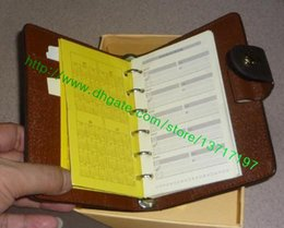 Wholesale Top Grade Real Leather Medium Ring Agenda Cover Wallet R20105 R20242 Medium Size Come with Refill