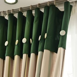 Wholesale Yarn Curtains - Bedroom Window Treatments Linen Drapes Cotton Curtains For Living Room Yarn Dyed Stripes Curtain Blinds Cotton Curtains 42W 50W 72W 1 Panel