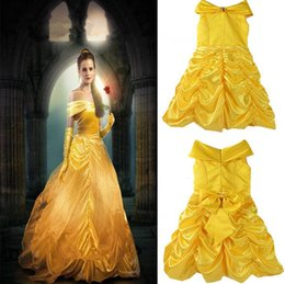 Wholesale Belle Party - Girls Princess Belle Dress Gorgeous Party Dress Kids Girls Tulle Tutu Lovely Skirts Costume Baby Girls Formal Dress