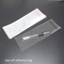 Wholesale Cellophane Bags Wholesale - 500pcs Clear Resealable BOPP Poly  Cellophane Bag 6x15 cm Transparent OPP gift bags Plastic packaging bags Self Adhesive Seal