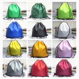 Toptan Satış - Basit düz renk su geçirmez çanta ip İpli çanta omuzlar ışın çantaları spor çantaları spor sırt çantası yüzme çantaları A0481 nereden