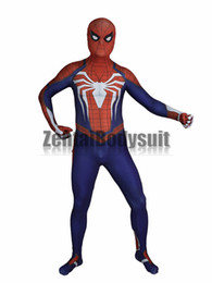 Wholesale M Shade - Insomniac Spiderman Costume 3D print Shade spandex Insomniac Spider-man Costumes Zentai Halloween Party Costume