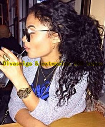 Wholesale Brazilian Vigin Hair - Hot Selling Human Hair Ponytails Hairpieces For Black Women KINKY CURLY Brazilian Vigin Hair Drawstring Ponytail Hair Extension