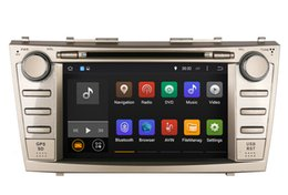 Wholesale Camry Android Dvd - Android Car DVD GPS Navigation for Toyota Camry 2007 2008 2009 2010 with Radio BT USB MP3 WiFi Stereo Video 4Core or 8Core