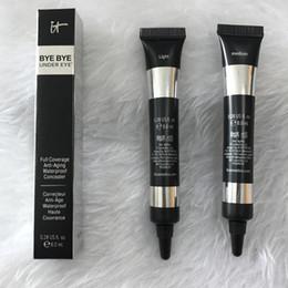 Wholesale Eyes Concealer - NEW makeup brand it cosmetics bye bye under eye Full Coverage Waterproof Concealer 0.28 US 8ML dhl