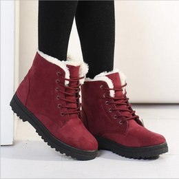 Wholesale Wholesale Flat Heeled Boots - Snow Boots Unisex Winter Ankle Boots Flat Heel Motorcycle Boots Casual Fashion Shoes Leisure Leather Velvet Outdoor Hiking Mujer Botas B2664