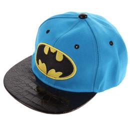 Wholesale Hip Hop Suits Girls - Spring, Autumn, Winter Kids Hip-Hop SnapBack Batman Baseball Cap Children Sports Cotton Hats Suit for Boy and Girl