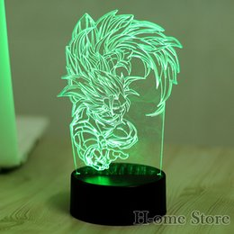 Wholesale Baby Lampe - Wholesale- 7 Color Seven Dragon Ball Lamp 3D Visual Led Night Lights for Kids Touch USB Table Lampara Lampe Baby Sleeping Nightlight