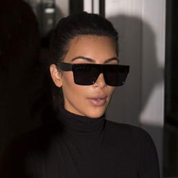 Carré Célébrité Italie Marque Designer célèbre Kim Kardashian Lunettes de Soleil Lady UV400 Femmes Hommes Lunettes de Soleil 50S Femelle ? partir de fabricateur