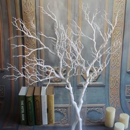 Wholesale Craft Coral - European style High-grade White Coral Branch Plastic Dried Branch Artificial Flower Craft Ornament For Wedding Table Decoration