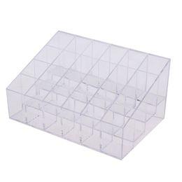 Wholesale Jewelry Organizer Plastic Storage - 2017 Hot Acrylic 24 Lipstick Stand Case Jewelry Box Makeup Organizer Tool mascara Cosmetic Holder Plastic Box Home Storage
