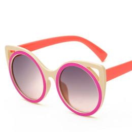 Wholesale Children S Wraps - Europe and the United States trend of new children sunglasses cartoon retro sunglasses anti - ultraviolet glasses fashion children 's mirror