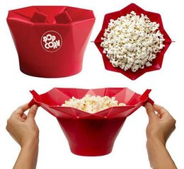 Wholesale Wholesale Used Appliances - Red Silicone Popcorn Maker Mini Foldable Easy To Use Popcorn Machine Kitchen Tools For Microwave Kitchen Appliance