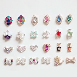 Wholesale Nail Art Mixed Glitter - Mix Fashion Style Nail Stickers Nail Art 3D Alloy Metal Crystal Decoration Diamond Cellphone Rhinestone Glitter Charms Jewelry