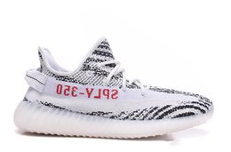 Wholesale Womens Black Canvas - Boost 350 V2 Zebra Black White for Mens Womens 2017 new Boost French Monta SPLY 350 V2 Zebra Running Shoes With Box 36-47