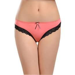 Wholesale Young Girls Stocking - #86839 Add black lace soft cotton comfortable underwear for women factory price wholesale stock panties for young girl