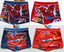 Wholesale Boys Bathers - 2017 Swimwear Boys' Spider Man Swimsuit Trunks Swimming Costumes Cosplay for 2-9Y Swimwear Kids Surfing Bathers