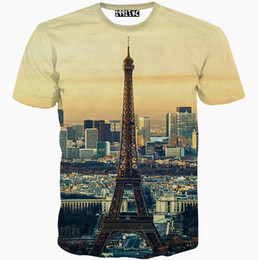 Wholesale Eiffel Tower T Shirt Men - Eiffel Tower T shirt Good view short sleeve gown Cool leisure tees Street printing clothing Unisex cotton Tshirt