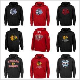 Wholesale Skull Hooded - Mens Chicago Blackhawks Hooded Sweatshirts SKULL Big Logo Hometown Proud Critical Victory VIII Fleece Majestic Heart & Soul Hoodies Black