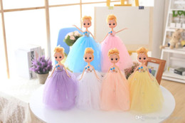 Wholesale Diy Princess Girl Gifts - 30cm Princess Doll Evening Party Clothes Wears Dress Mini Girl Doll Kids Toys Great Christmas Gift For Girl Free Shipping