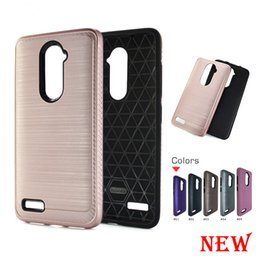 Wholesale Bags Rose Champagne - Hybrid Brushed Armor cover For LG V30 V30+ For LG H930 Carbon Fiber Case Dual Layer protection cover with opp bags C