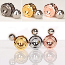 Wholesale Magnetic Magnet Balls - 2017 New Fidget Toy Magnetic Orbiter Hand Spinner Metal Finger Magnet Spinner Stress Relief Toy Aluminum Steel Ball with retail packing