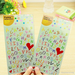 Wholesale Scrapbook Letters - 1x photo album Scrapbook decoration English letter decorative sticker children DIY Handmade Gift Card Scrapbooking Free shipping