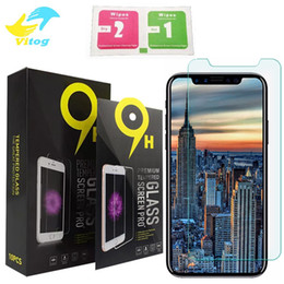 Wholesale 5s Iphone Protector - Tempered Glass For iphone 8 plus iphone X Screen Protector 0.26mm Proof Film iphone 5S HTC 10 J7 Galaxy S6 S5 Note 5