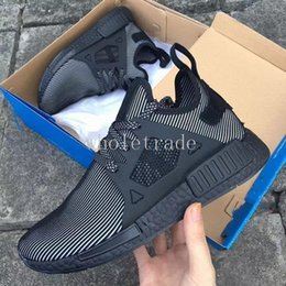 Wholesale Canvas Flats Shoes Kids - Free shipping NMD XR1 Triple Black for Womens Mens Kids Running Shoes nmds runner xr1 sneakers for sale size 36-45 Come With Box