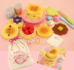 Wholesale Mother Garden Cake Set - New Arrival Mother Garden Strawberry Simulation Biscuits Set Wooden Toys Cartoon Cake Cooking Kitchen Toy Child Educational Gift