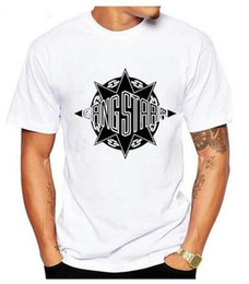 Wholesale Personalize T Shirts - 2017New fashion summer Gang Starr Logo T shirt Men Personalized Printed Cotton O Neck Short Sleeve Top Tees For Male S-XXXL cxfg