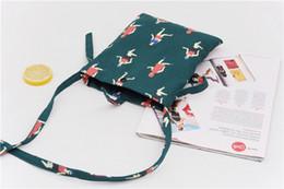 Wholesale Korean Wallet Phone Case - 20pc 12OZ canvas Mini travel case Cross-body Neck Strap Lanyard Mobile Phone Shoulder Bag Pouch cell phone Case Handbag Purse Coin Wallet