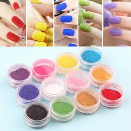 Wholesale Top Nail Acrylic Powder - Wholesale- Top Quality!!! 12 Mix Colors Acrylic Powder Nail Art Dust Powder Decoration for Nail Powder